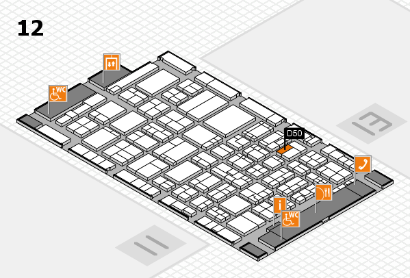 ProWein 2017 hall map (Hall 12): stand D50