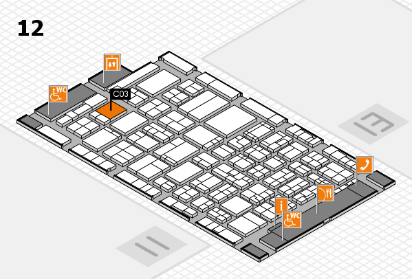ProWein 2017 hall map (Hall 12): stand C03