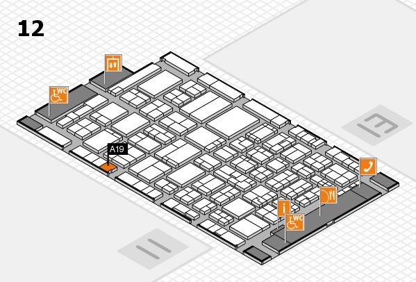 ProWein 2017 Hallenplan (Halle 12): Stand A19