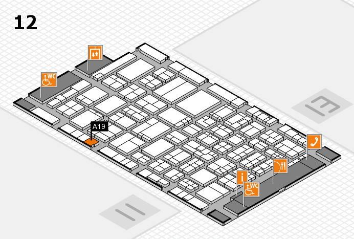 ProWein 2017 hall map (Hall 12): stand A19