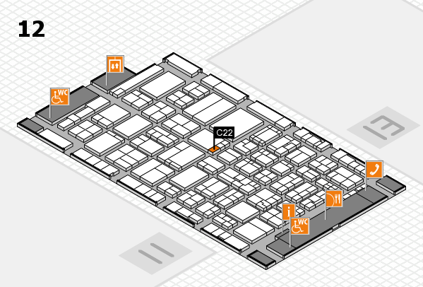 ProWein 2017 hall map (Hall 12): stand C22