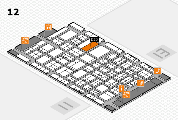 ProWein 2017 hall map (Hall 12): stand D20