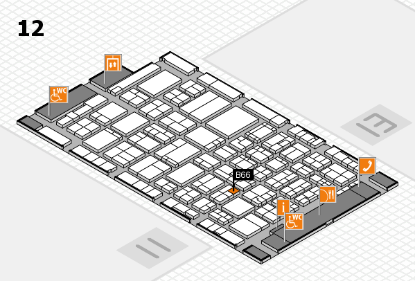 ProWein 2017 hall map (Hall 12): stand B66