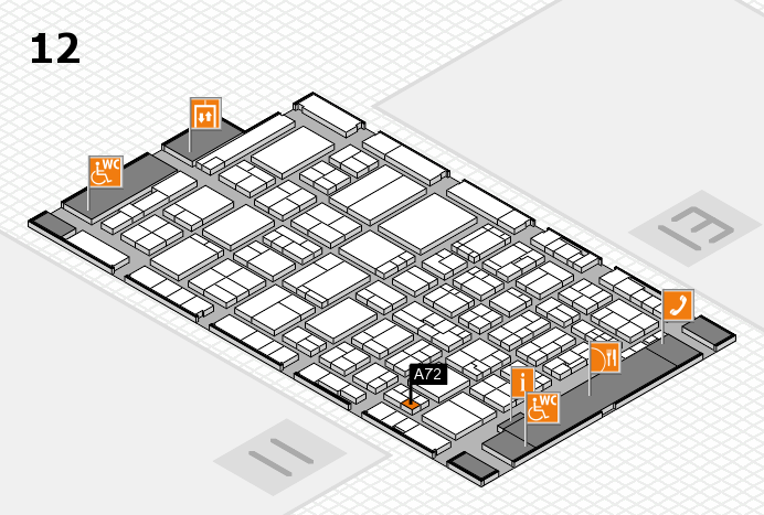 ProWein 2017 hall map (Hall 12): stand A72