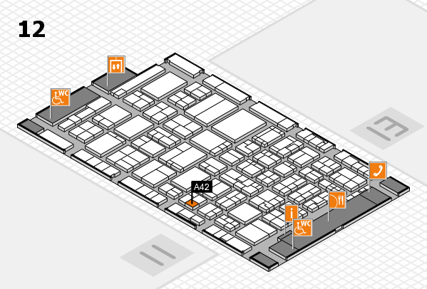ProWein 2017 Hallenplan (Halle 12): Stand A42