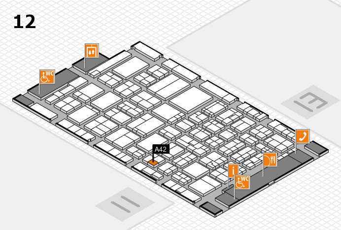 ProWein 2017 hall map (Hall 12): stand A42