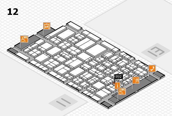 ProWein 2017 hall map (Hall 12): stand B92