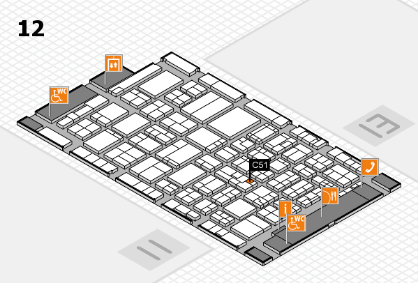 ProWein 2017 hall map (Hall 12): stand C51