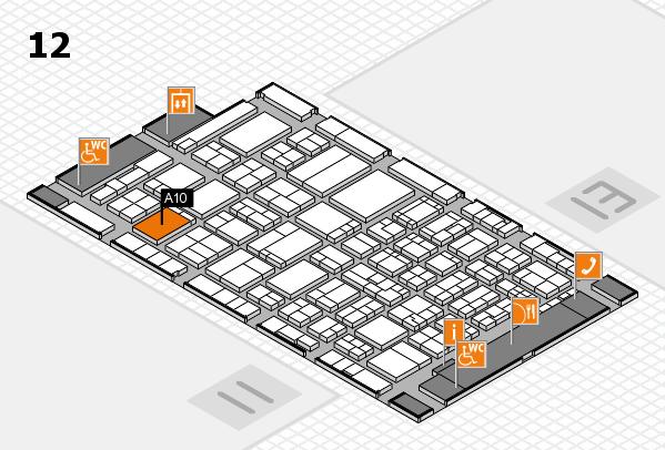 ProWein 2017 Hallenplan (Halle 12): Stand A10