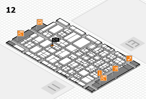 ProWein 2017 hall map (Hall 12): stand C11