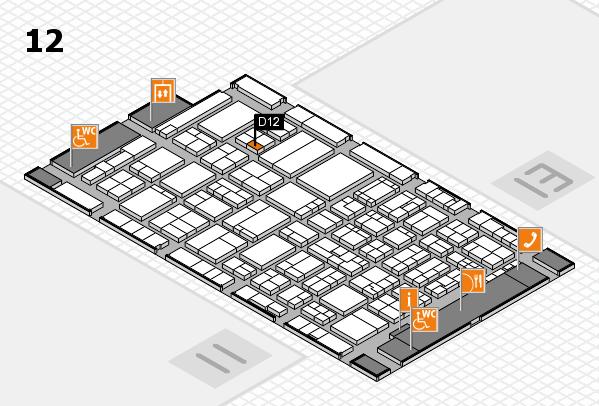 ProWein 2017 Hallenplan (Halle 12): Stand D12