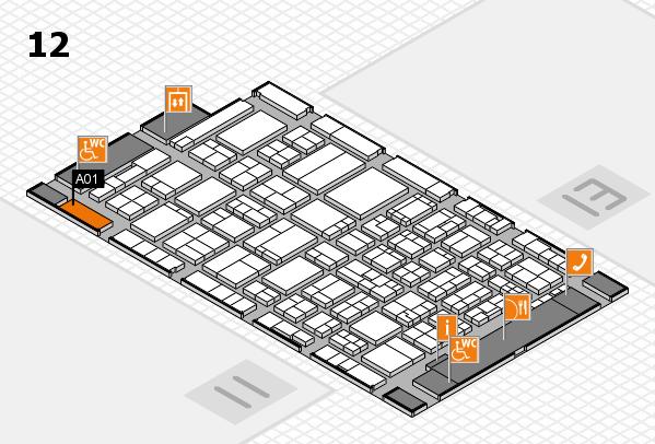 ProWein 2017 Hallenplan (Halle 12): Stand A01