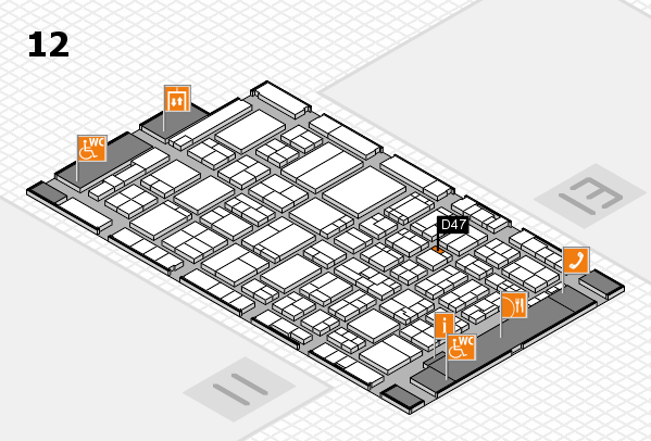 ProWein 2017 hall map (Hall 12): stand D47