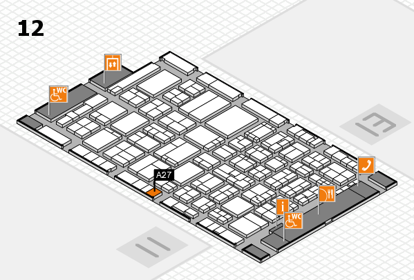 ProWein 2017 hall map (Hall 12): stand A27