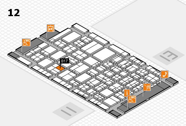 ProWein 2017 hall map (Hall 12): stand B17
