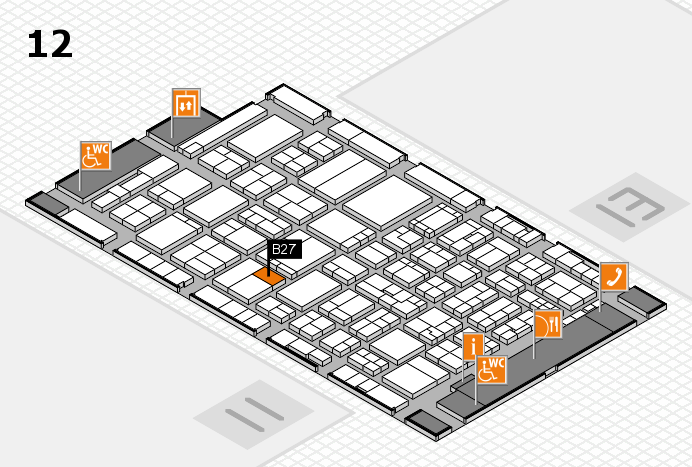 ProWein 2017 hall map (Hall 12): stand B27