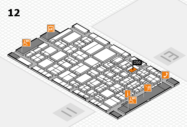 ProWein 2017 Hallenplan (Halle 12): Stand D56