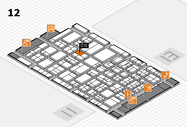 ProWein 2017 hall map (Hall 12): stand D15