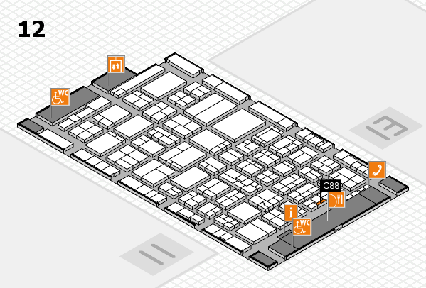 ProWein 2017 hall map (Hall 12): stand C88