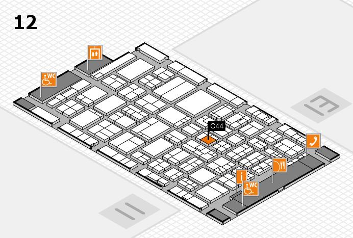 ProWein 2017 Hallenplan (Halle 12): Stand C44