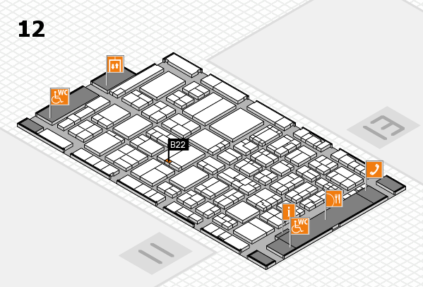 ProWein 2017 hall map (Hall 12): stand B22