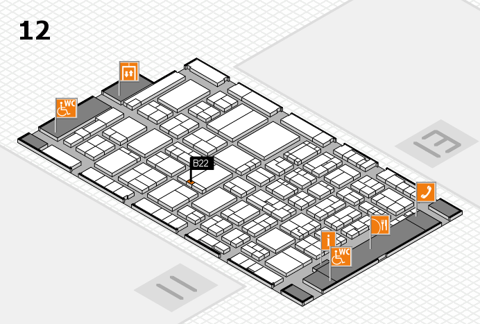 ProWein 2017 hall map (Hall 12): stand B22