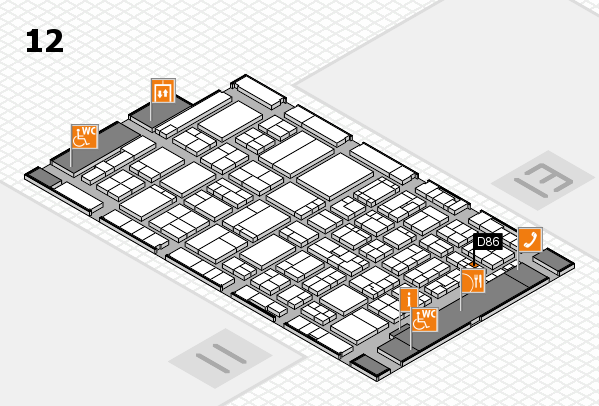 ProWein 2017 hall map (Hall 12): stand D86