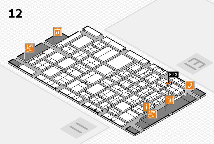 ProWein 2017 Hallenplan (Halle 12): Stand E73