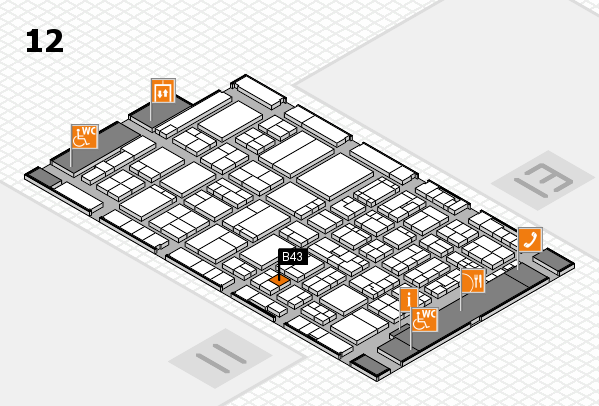 ProWein 2017 hall map (Hall 12): stand B43
