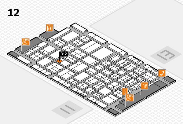 ProWein 2017 hall map (Hall 12): stand B12