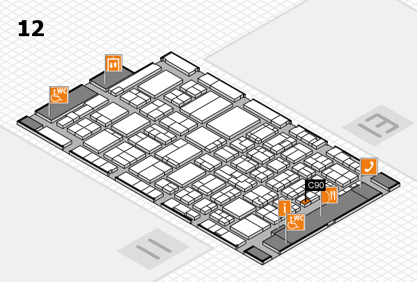 ProWein 2017 hall map (Hall 12): stand C90