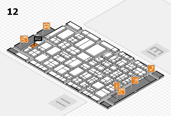 ProWein 2017 Hallenplan (Halle 12): Stand B02