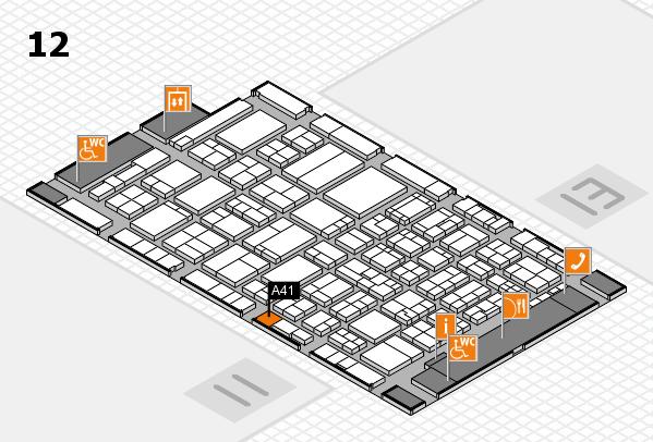 ProWein 2017 Hallenplan (Halle 12): Stand A41