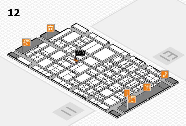 ProWein 2017 Hallenplan (Halle 12): Stand C19