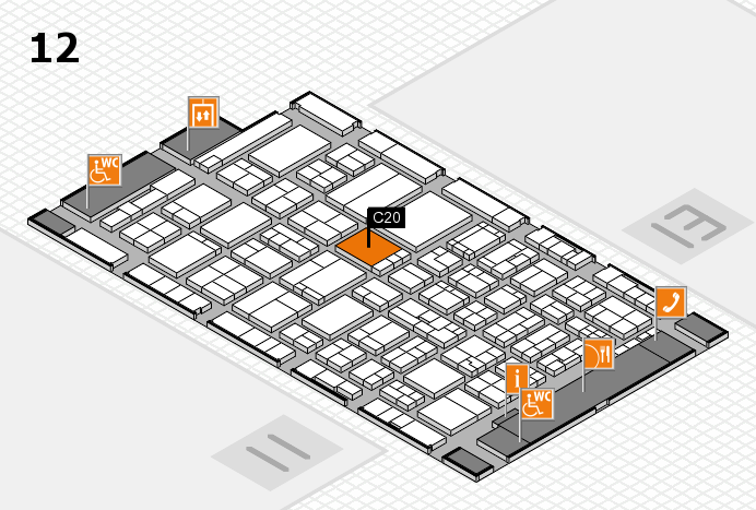 ProWein 2017 hall map (Hall 12): stand C20