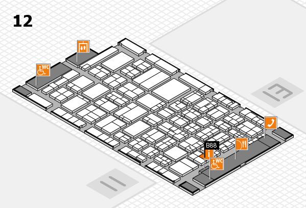 ProWein 2017 hall map (Hall 12): stand B88
