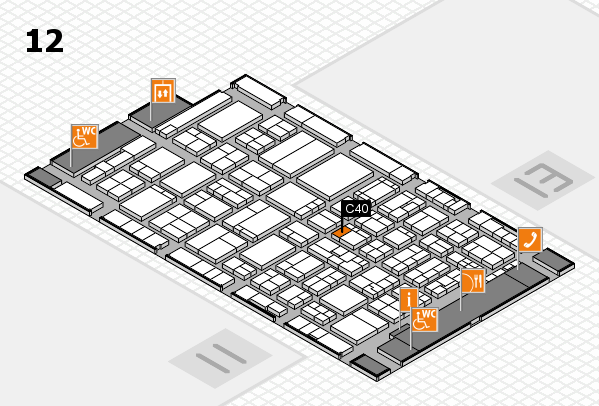 ProWein 2017 hall map (Hall 12): stand C40