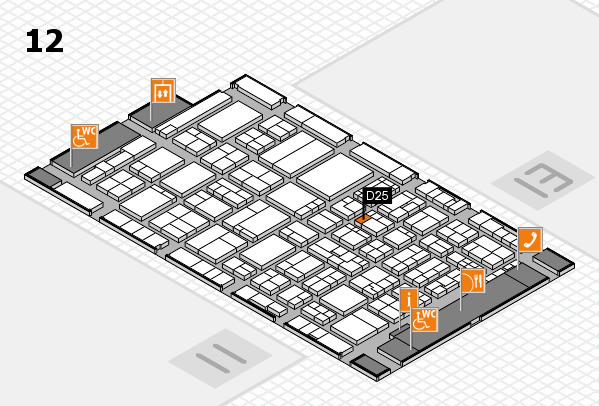 ProWein 2017 hall map (Hall 12): stand D25