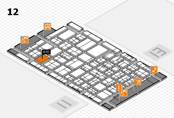 ProWein 2017 hall map (Hall 12): stand A10