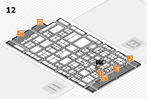 ProWein 2017 hall map (Hall 12): stand C73