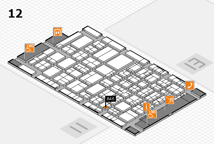 ProWein 2017 hall map (Hall 12): stand A46