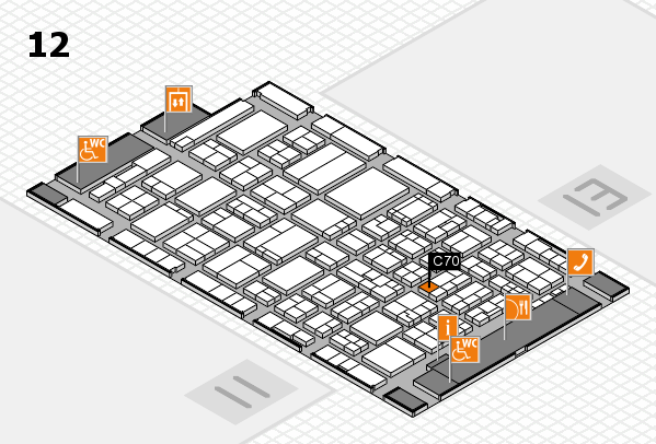 ProWein 2017 hall map (Hall 12): stand C70