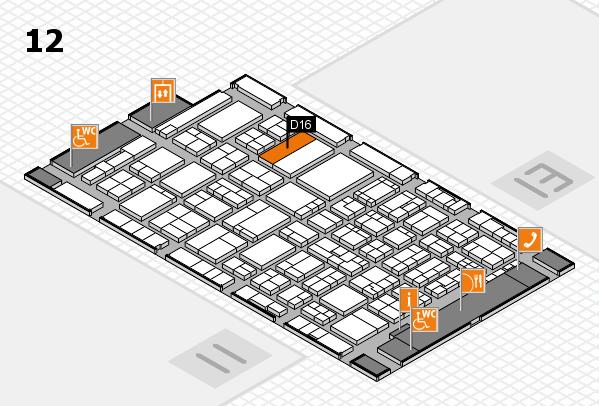 ProWein 2017 Hallenplan (Halle 12): Stand D16