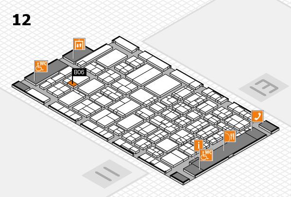 ProWein 2017 hall map (Hall 12): stand B06