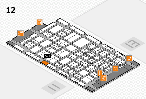ProWein 2017 hall map (Hall 12): stand A21