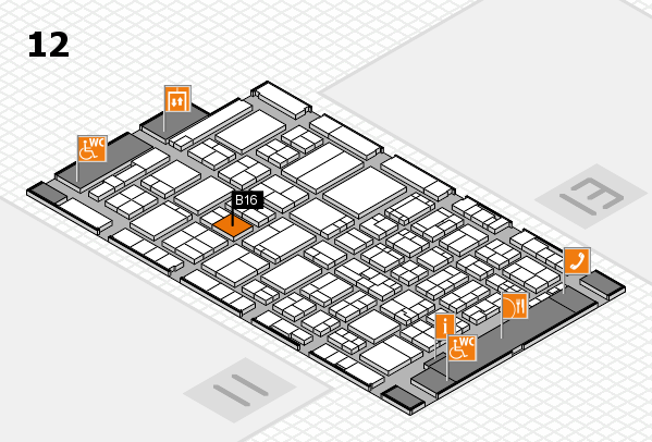 ProWein 2017 hall map (Hall 12): stand B16