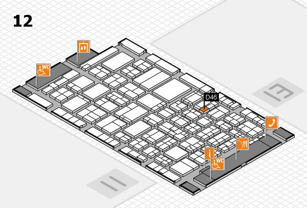 ProWein 2017 Hallenplan (Halle 12): Stand D46