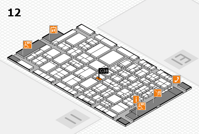 ProWein 2017 hall map (Hall 12): stand C38