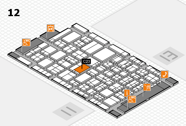 ProWein 2017 hall map (Hall 12): stand C23