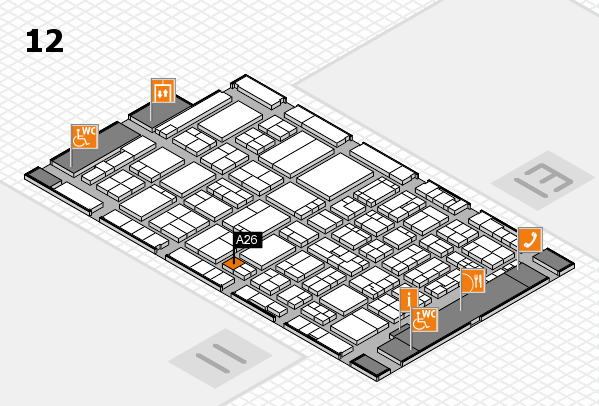 ProWein 2017 hall map (Hall 12): stand A26